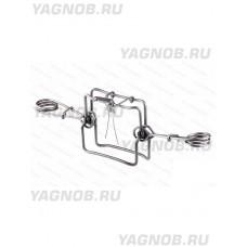 Капкан проходной КП-120, двухсторонний, гуманный, разр для промысла в РФ, (на куницу, соболя, норку)