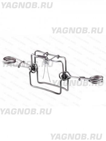 Капкан проходной КП-120, кругового срабат., разрешен для промысла в РФ, (на куницу, соболя, норку)
