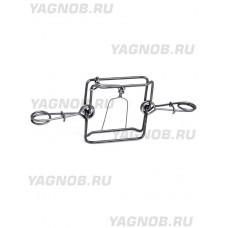 Капкан проходной КП-180, двухсторонний, гуманный, разр для промысла в РФ (на лисицу, енота, выдру)