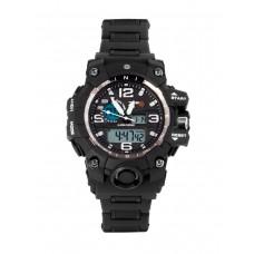 Тактические часы Dual Time Chronometer, 7.62, Water Resistant 30м, арт CB001, цвет Черный (Carbon Black)