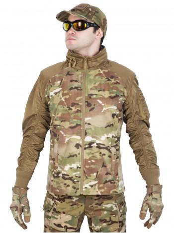 Куртка мужская флисовая GONGTEX Russian Flight Jacket, цвет Мультикам (Multicam)
