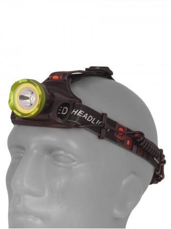 Мощный, налобный, светодиодный, аккумуляторный фонарь,  COB 007