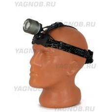 Мощный, налобный, светодиодный, аккумуляторный фонарь, арт. 017