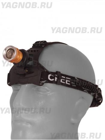 Мощный  налобный светодиодный аккумуляторный фонарь T621