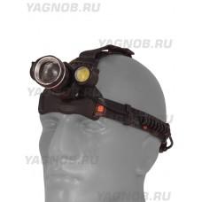 Мощный  налобный светодиодный аккумуляторный фонарь BT-002