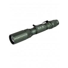 Сверхмощный подствольный тактический фонарь, аккумуляторный, Zoom X 1-2000, арт. X4-B  (АКБ, кронштейн, выносная кнопка и зарядка в комплекте)