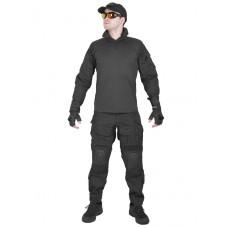 Костюм камуфляжный тактический летний G3 с защитой локтей и коленей, Tactica 762, цвет Черный (Black)