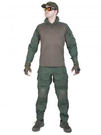 Костюм камуфляжный тактический летний G3 с защитой локтей и коленей, Tactica 762, цвет Олива (Olive)