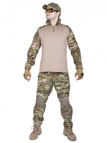 Костюм камуфляжный тактический летний G3 с защитой локтей и коленей, Tactica 762, цвет Мультикам (Multicam)