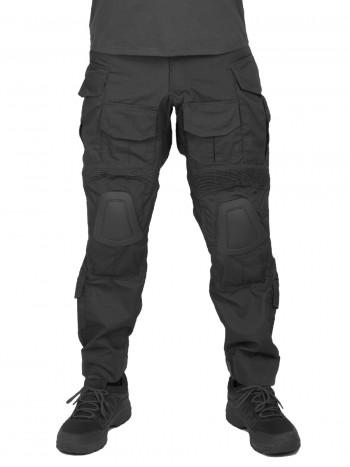 Брюки тактические мужские летние G3 Tactical Pants, с защитой коленей, ACTION STRETCH, RipStop, цвет Черный (Black)