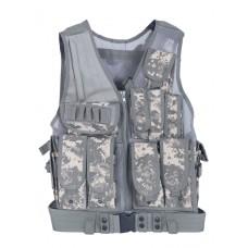 Тактический разгрузочный жилет Unloading Combat Vest T-045, цвет Цифровой серый (ACUPAT)