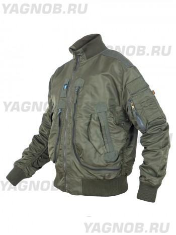 Куртка Пилот мужская (бомбер), демисезонная  762 Armyfans G056A, цвет Олива (Olive)