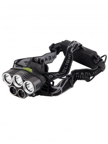 Мощный, налобный, светодиодный, аккумуляторный фонарь, арт. T-501