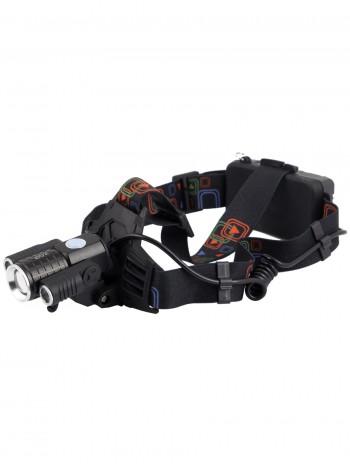 Мощный, налобный, светодиодный, аккумуляторный фонарь, арт. W-602