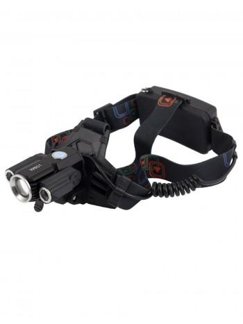 Мощный, налобный, светодиодный, аккумуляторный фонарь, арт. HL-W-601 (4 режима, полный комплект)