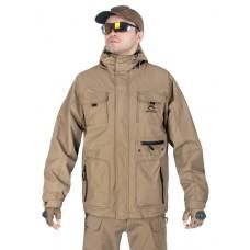Куртка мужская демисезонная 2в1, AIR FORCE WINDBREAKER (ветровка + Softshell Jacket), 726 Armyfans, арт 038, цвет Хаки (Khaki)