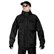 Куртка мужская демисезонная 2в1, AIR FORCE WINDBREAKER (ветровка + Softshell Jacket), 726 Armyfans, арт 038, цвет Черный (Black)