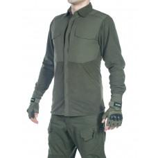Рубашка флисовая мужская утепленная GONGTEX Superfine Fleece Shirt, цвет Олива (Olive)