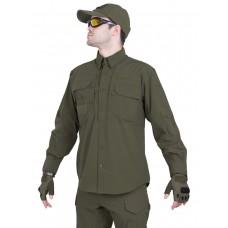 Рубашка тактическая мужская GONGTEX TRAVELLER SHIRT, нейлон, цвет Олива (Olive)