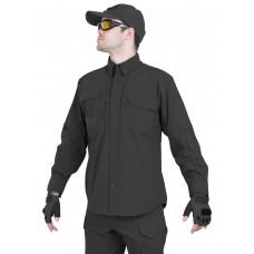Рубашка тактическая мужская GONGTEX TRAVELLER SHIRT, нейлон, цвет Черный (Black)