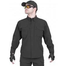 Легкая тактическая мужская рубашка GONGTEX TRAVELLER SHIRT, полиэстер-эластан, цвет Черный (Black)