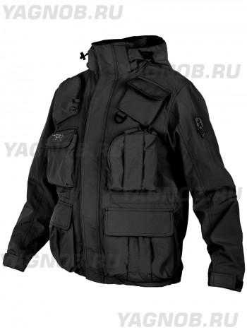Куртка мужская демисезонная Tactical Pro Jacket 726 ARMYFANS, арт C018, цвет Черный (Black)