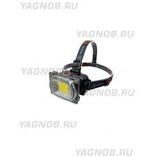 Мощный, налобный, светодиодный, аккумуляторный фонарь, арт. 6651