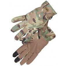 Перчатки тактические нейлоновые Gongtex 3M-Thinsulate Tactical Gloves для влажной и холодной погоды арт CGLV-0002T, цвет Multicam (Мультикам)