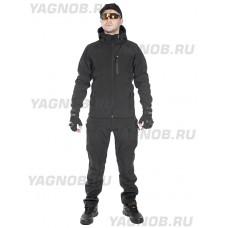 Брюки тактические мужские Софтшелл Gongtex Assault Softshell Pants, осень-зима, цвет Черный (Black)