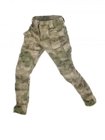 Брюки тактические мужские Софтшелл Gongtex Assault Softshell Pants, осень-зима, цвет Атакс, Мох (A-TACS)