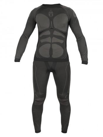 Термобелье копрессионное Functional Underwear, 726 GEAR, принт Sparta, 100% Полиэстер, арт 8078, цвет Серый/Черный (Gray/Black)