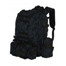 Рюкзак Тактический FORTRESS с напояс. сумкой и 2 подсум, 40 л, арт 016, цвет Темно-синий