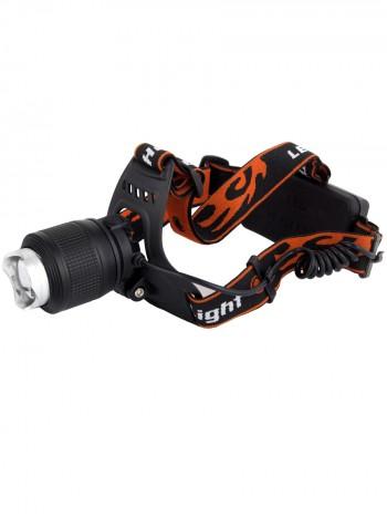 Мощный налобный светодиодный аккумуляторный фонарь HL-033-2 (синий свет + полный комплект)
