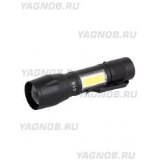 Компактный ручной тактический фонарь, арт. TS-513 (3 режима, зум, кабель miniUSB)