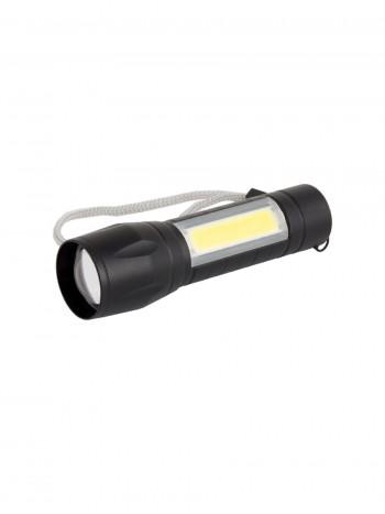 Компактный ручной тактический фонарь, арт. TS-511 (3 режима, зум, кабель miniUSB)