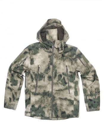 Куртка Софтшелл Softshell Tactical Gear, до -10С, цвет Атакс, Мох (A-TACS FG)