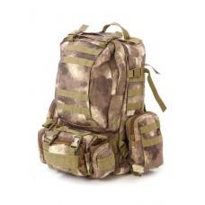 Рюкзак Тактический FORTRESS с напояс. сумкой и 2 подсум, 40 л, арт 016, цвет Атакс Степь,  A-TACS AU