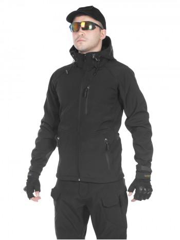 Куртка мужская тактическая софтшелл GONGTEX ASSAULT SOFTSHELL JACKET, цвет Черный (Black)