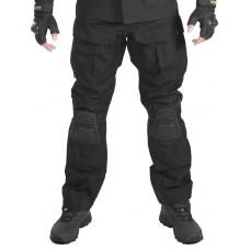 Брюки мужские тактические, Gongtex Alpha Tactical Pants с наколенниками, цвет Черный (Black)